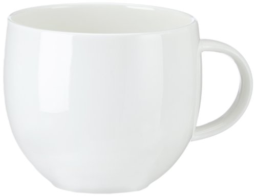 Alessi'All-Time' Teacups in Bone China (Set of 4), White