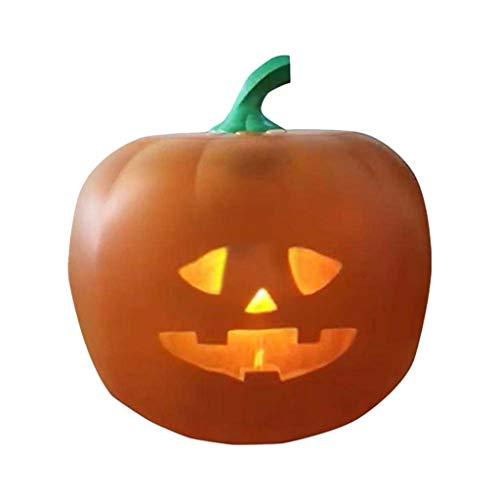 Allegorly Halloween elektrische Kürbisprojektionslampe Halloween sprechender animierter Kürbis mit eingebautem Projektor & Lautsprecher 3-in-1