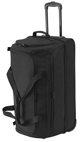 Reisetasche Reise Rollen Trolley Funktion Doppeldecker Tasche Schwarz 70x40x35 cm Bowatex