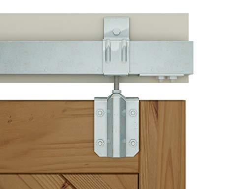 AiHom M0083 200cm die Box Schiene Schiebetüren Scheune Hardware für die Außentüren