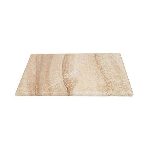 wohnfreuden Onyx Waschtisch-Platte Aufsatz-Waschbecken Unterbau Aufsatzbecken 80 x 52 cm Naturstein ✓