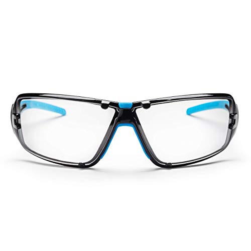 SolidWork Gafas protectoras profesionales seguridad con protección lateral integrada | así como lentes antivaho | resistentes a arañazos - Bolsa de almacenamiento incluida