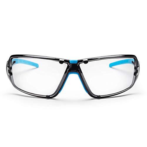 SolidWork Profi Schutzbrille mit integriertem Seitenschutz, sowie beschlagsfreien, kratzfesten und UV Schutzbeschichteten Gläsern inkl. Aufbewahrungsbeutel