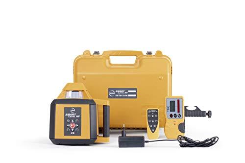Baulaser Theis Smart Level HV Profi Rotationslaser mit Empfänger für horizontale und vertikale Anwendungen mit viel Zubehör (Handempfänger, Halteklammer, Ladegerät, Fernbedienung, stabiler Koffer)