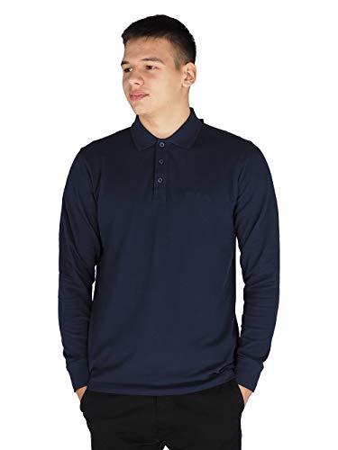 Pierre Cardin Mens Neue Saison langarm Klassisches Premium Polo T-Shirt anbringen. (3X-Groß, Marine)