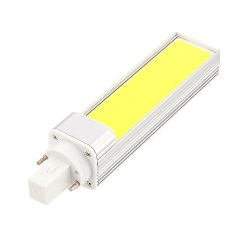 Ifengqulimia Bombilla G24LED, luz de enchufe horizontal LED COB 12W (equivalente de halógeno 110W) Adecuada para lámpara de escritorio de estudio para sala de estar de un dormitorio AC 85-265V