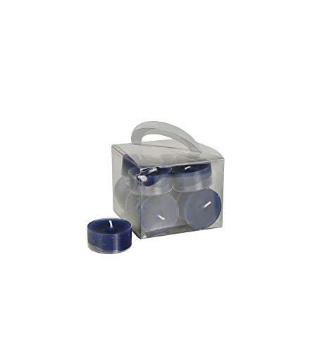 12 Teelichte Ø 38 mm · 18 mm dunkelblau in Polycarbonathülle. DW10465
