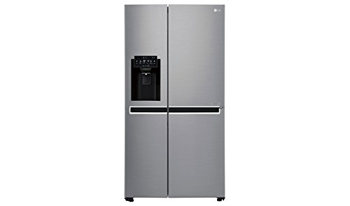 LG GSL461ICEZ Freestanding 601L A++ Grey, Stainless steel side-by-side refrigerator - Side-By-Side Fridge-Freezers (Freestanding, Grey, Stainless steel, American door, LED, Glass, 601 L)