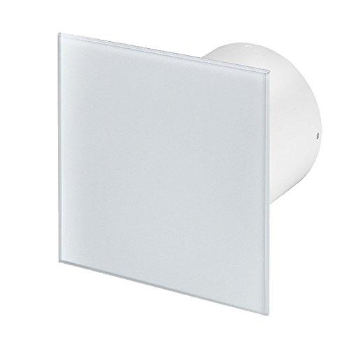Badlüfter Wand-Ventilator Ø 100 mit Nachlauf , Kugellager Silent Trax Glas - Line System+ (echtglas)