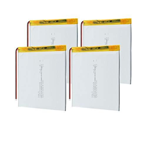 THENAGD Batería De PolíMero De Litio De PolíMero De Litio De 3.7v 30100100 6000mah, Reemplazo Recargable para Computadora PortáTil con Tableta De Libro ElectróNico 4PCS