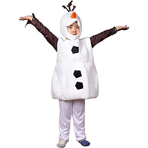 MUTYLRR Disfraces de Halloween para niños Halloween congelado 2 Olaf con Sombrero Suave Peluche Animales para niños niña Vacaciones Vacaciones Vestir Disfraz de niña de Halloween