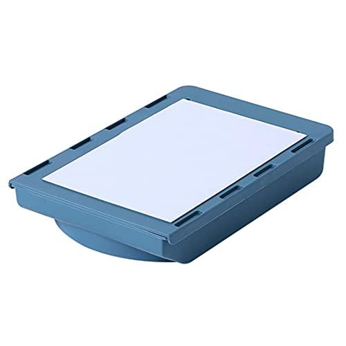 Evazory Under Desk Drawer - Organizador de escritorio con tapa autoadhesiva, gran capacidad, sin perforación, para escritorio, organizador de escritorio o caja de almacenamiento, color azul 2