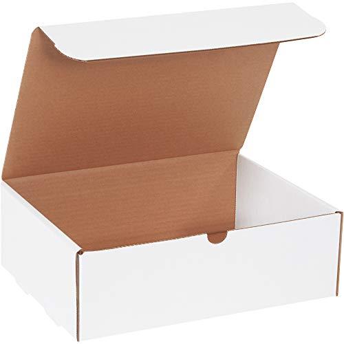BOX USA BM1294 12 1/8'L x 9 1/4'W x 4'H, White (Pack of 50)