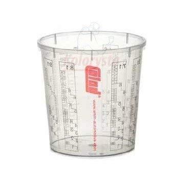 50 x COLAD Mischbecher mit Maßstab 2300 ml LACK FÜLLER - Becher ohne Deckel