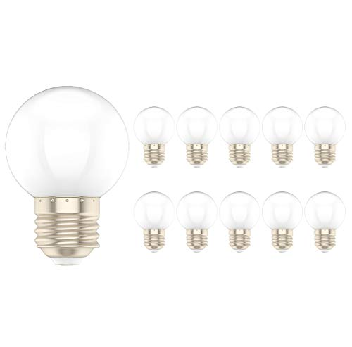 10X E27 Bunte Glühbirnen 1W Weiß LED Lampen 100LM Farbige Glühbirnen PC Material Dekorationslampe AC220V-240V