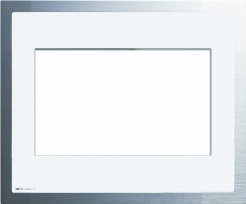 Gira 208012 Abdeckrahmen Control 9 KNX EIB Glas Weiß, alu