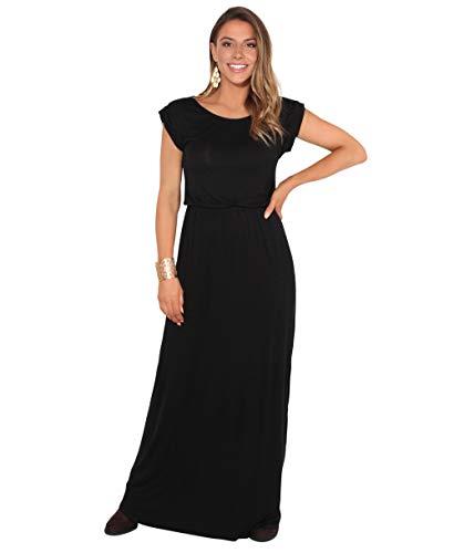 KRISP 3269-BLK-08 Damen Leichtes Kleid (Schwarz, Gr.36)