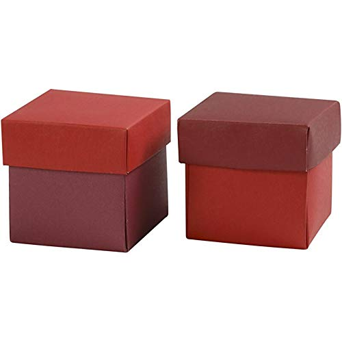 CCH Paper Art - Pappschachtel 5x5x5.5 cm Rot