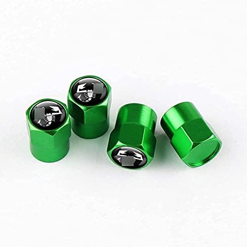 4 Piezas Neumáticos Tapas Válvulas para Fiat Bravo Abarth 500 500l 500x Punto stilo palio, Antipolvo Tapones de Coche Decoración Accesorios