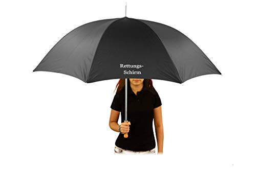 Regenschirm mit Name, Text nach Wunsch, Hochzeitsschirm, schwarz großer Schirm individualisiert - Alles Einzelstücke, 1 x Druck schwarz o. weiß; Mitteilung Text nach Bestellung kontaktieren