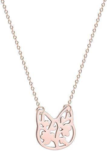 TYWZH Collar Encantador Collar con Colgante de Gato para Mujer Lindo Amor Animal León Brach pájaro Fénix bebé niñas Regalo de cumpleaños Collares K