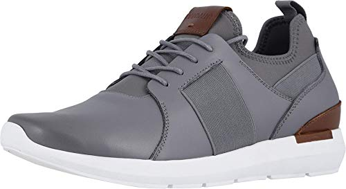 Vionic Men's Bond Caleb Lace-up Sneaker with Concealed Orthotic Arch Support Grey 7 D US