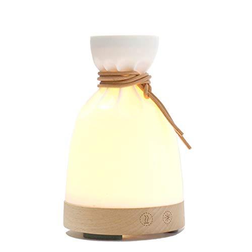 LEERIAN Difusor de Aceite Esencial de 140 ml para aromaterapia, difusores de Aroma ultrasónico con SPA de Apagado automático, Dormitorio, Cuarto de bebé - Grano de Madera Amarillo
