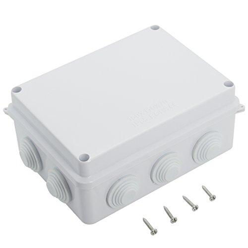 LeMotech ABS Plastic Dustproof Waterproof IP65 Junction Box Universal Electrical Project Enclosure White 5.9 x 4.3 x 2.8 inch (150 x 110 x 70 mm)