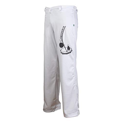 Jl Sport Authentische Brasilianische Capoeira Unisex Kampfsport Hosen (Berimbau Aufdruck Neben Bein) - XL