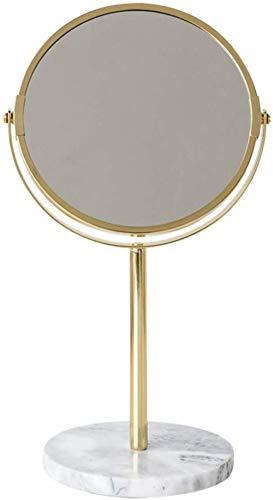 LHY- Maquillage Miroir Miroir marbre Bureau · Or Dressing Double Face Modèle Chambre Décoration Décoration La Mode
