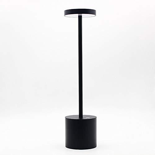 LanLan Lampade da Lettura Lampada da Tavolo Ricaricabile USB LED Elegante Lampada da Notte con 2-Mode Eye-Protect Lamp Gift Black Shell Warm Light