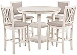 New Classic Furniture Amy Kitchen Table, Bisque