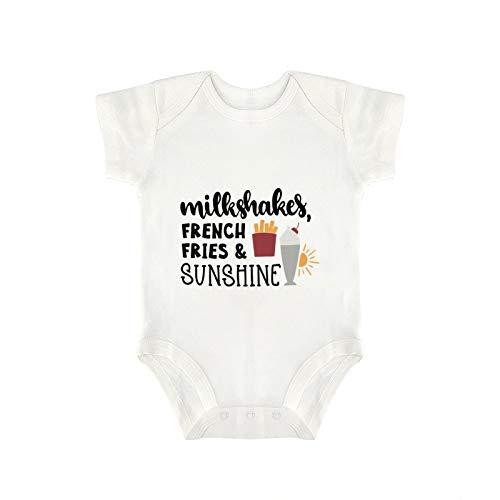 DKISEE Novedad - Mono de bebé divertido con patatas fritas y sol, para bebé y niña, 3 meses