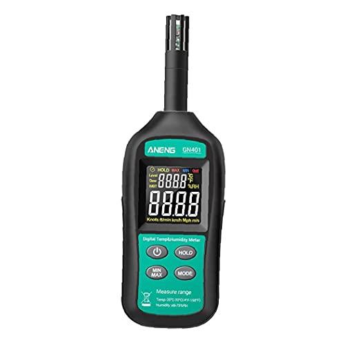ANENG Mini Hygrómetro Termómetro GN401 Medidor de humedad digital de alta precisión Prueba eléctrica