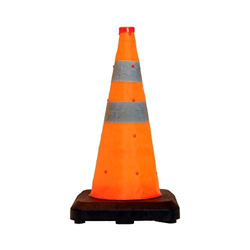 LED-MARTIN® Leitkegel faltbar 50cm - besonders schwere Ausführung - Unfallabsicherung - Absperrung - Umleitung - Straßensicherheit, Faltleitkegel