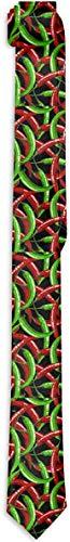 Funny Z Lazo de Los Hombres Pimientos Picantes Rojos Verdes Patrón de Alimentos Corbatas Delgadas de Seda de Moda Corbatas de Regalo Personalizadas