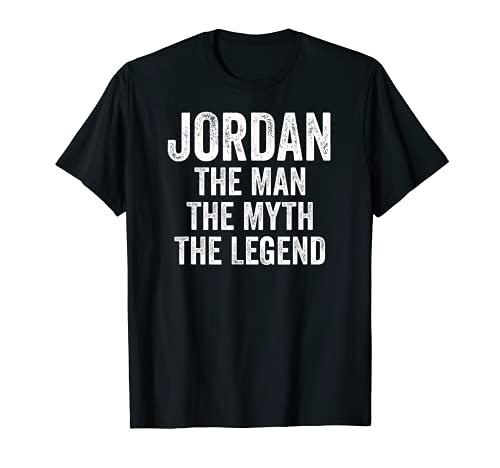Jordan El Hombre El Mito La Leyenda Camisa Primer Nombre Jordan Camiseta