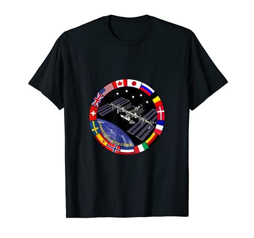 International Space Station T-Shirt NASA ISS Flaggen Logo