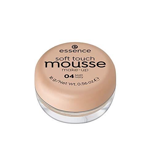 essence soft touch mousse make-up, Make Up, Foundation, Nr. 04 matt ivory, nude, für Mischhaut, für unreine Haut, mattierend, matt, vegan, ohne Parfüm, ohne Alkohol (16g)