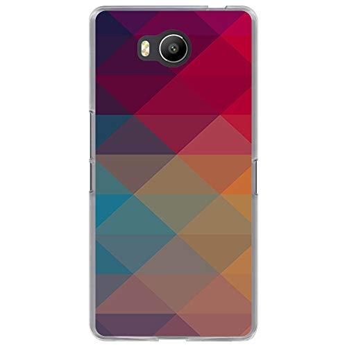 BJJ SHOP Transparent Hülle für [ Elephone P9000 Lite ], Flexible Silikonhülle, Design: Mehrfarbige Pyramidenformen