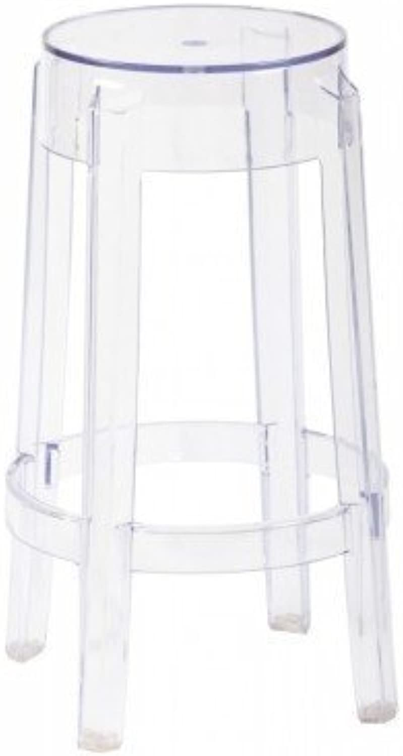 HomeCraft Philippe Starck Charles Ghost Stool in Transparent Crystal Counter height