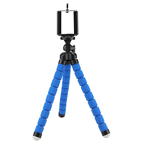 Projector Stand Household Tripod Projector Stand, Portable Mini Tripod 6.0MM Compatible Mini Projector Camera Stand Phone Stand, 2 Colors Projector Brackets (Color : Blue stand holder)