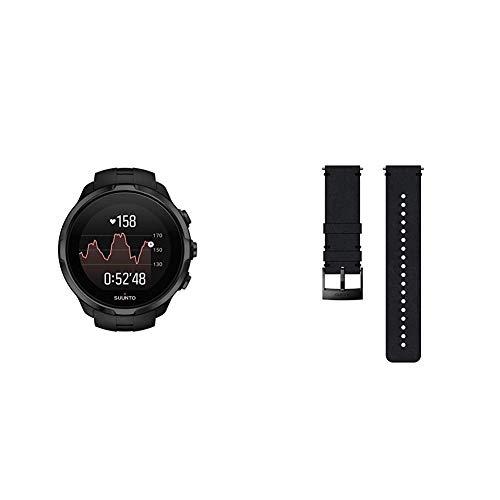 Suunto Spartan Sport Wrist HR - Reloj GPS Multideporte Negro, Talla única + Suunto Correa de sustitución original para todos los relojes Suunto Spartan Sport