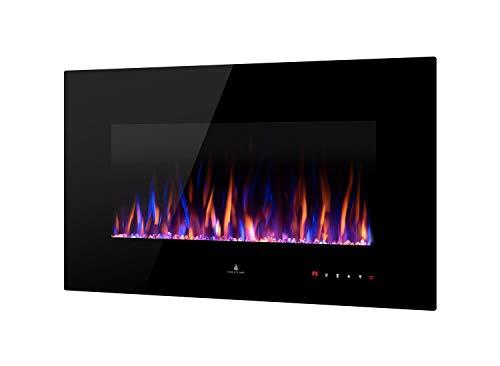 Noble Flame Vegas 900 - Chimenea eléctrica de pared, con mando a distancia para montaje en pared, diferentes anchuras