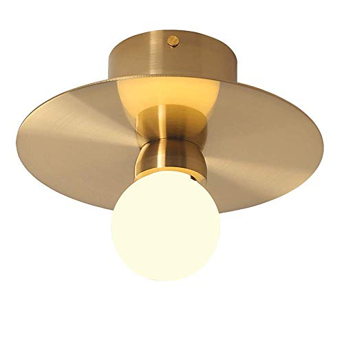 ZY Plafondlamp smeedijzeren LED Moderne ronde legering plafondlamp creatieve lamp van doorzichtig glas lampenkap restaurant woonkamer kinderkamer bedlampje zuigplaat zwart goud