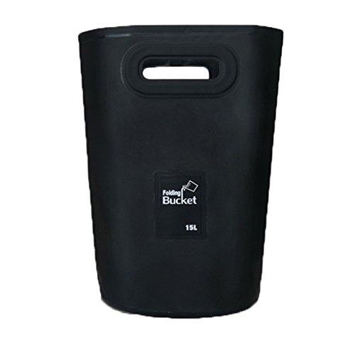 Moonlove Cubo de agua plegable para pesca, 15 L, portátil, para viajes, camping, senderismo, plegable, para lavar el coche, bolsa de almacenamiento para el coche