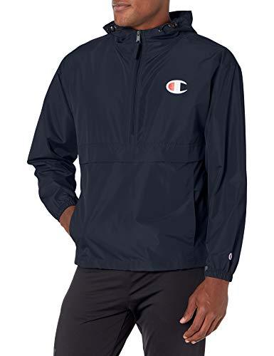 Champion Herren Packable Jacket Jacke, Navy, Large