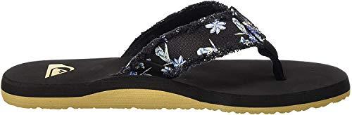 Quiksilver Monkey Abyss, Zapatos de Playa y Piscina Hombre, Negro (Black/White/Black Xkwk), 46 EU