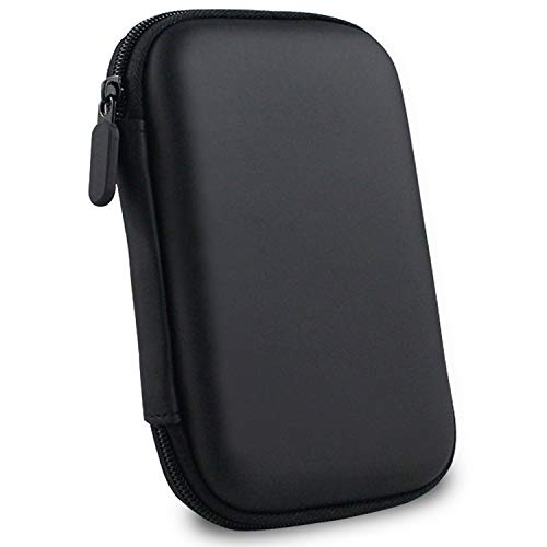 """GIZGA Hard Disk Drive Pouch case for 2.5"""" HDD Cover WD Seagate Slim Sony Dell Toshiba (Black)"""