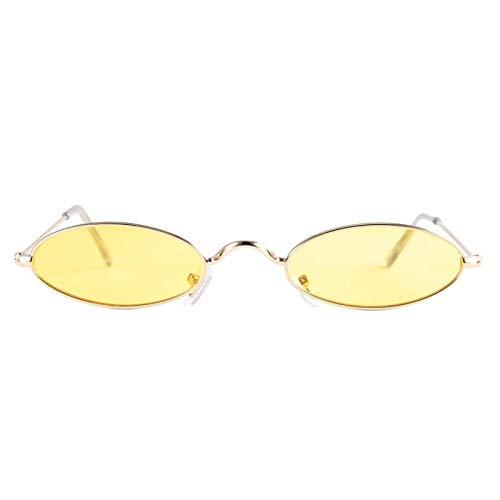 DAUERHAFT Gafas de Sol Femeninas Gafas de Sol Vintage de Estilo de Moda al Aire Libre y Deportes, para Conducir en Verano(Gold Frame Transparent Yellow)